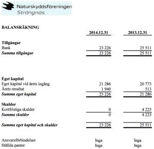 Balansräkning 2014