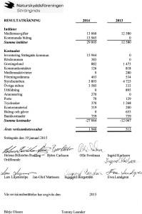Resultaträkning 2014